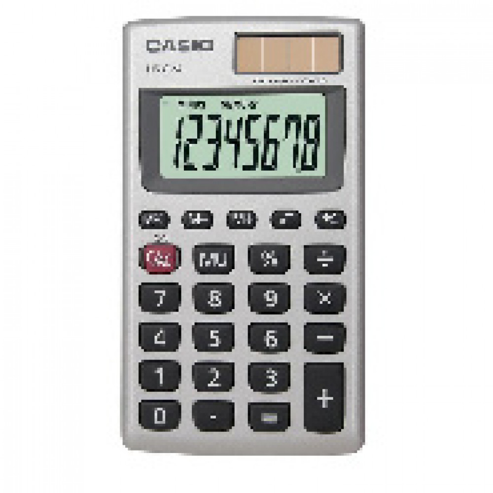 Калькулятор CASIO карман. HS-8VA 8 разряд., металлический корпус