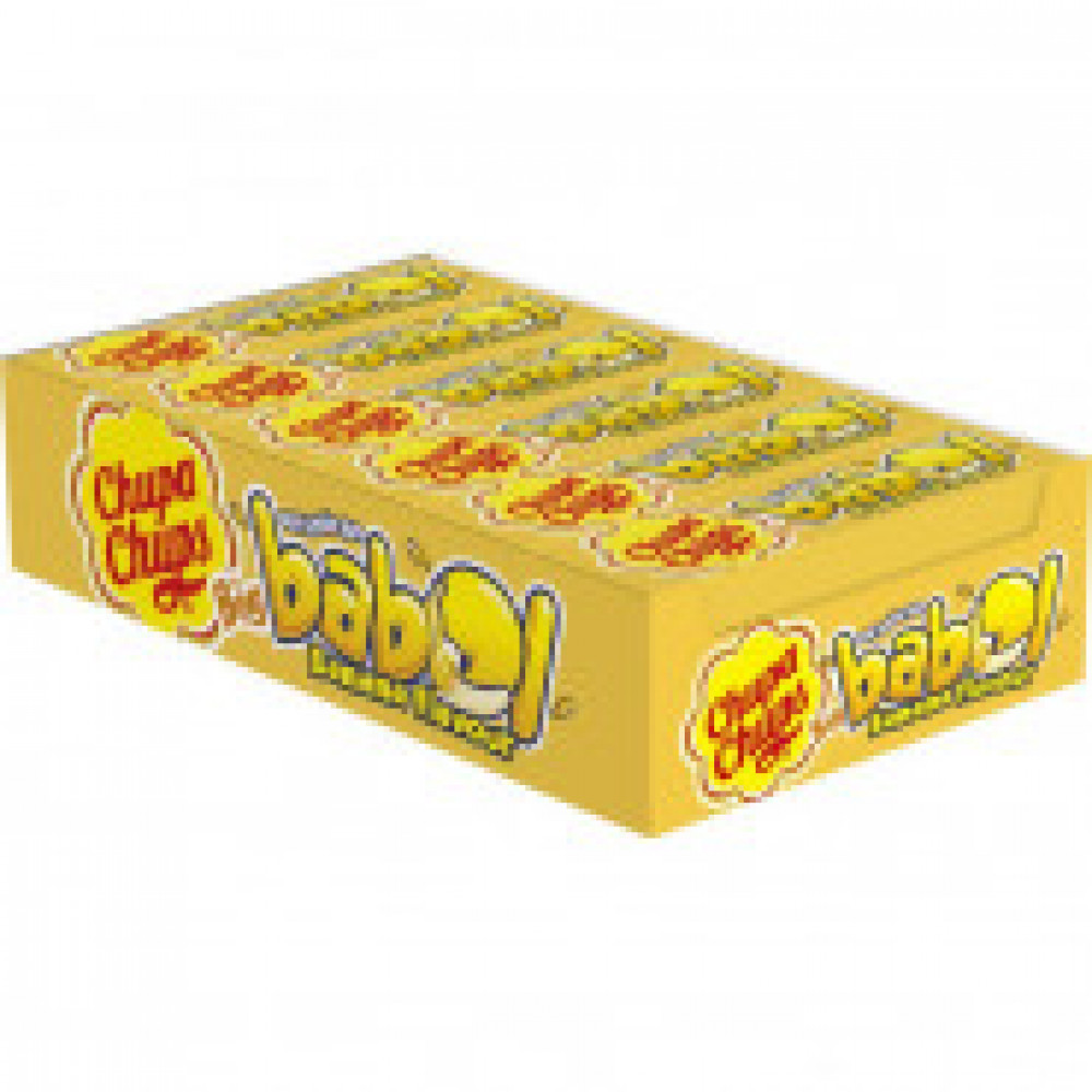 Жевательная резинка Chupa Chups Big Babol Банан 16х24х21 8252759 (1x24 шт)
