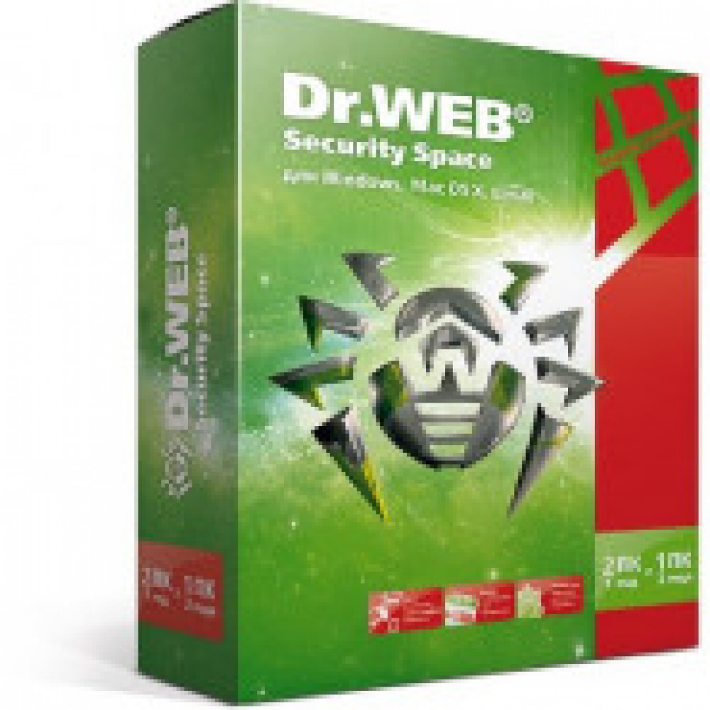 Антивирус DR.Web (BHW-B-24M-2-A3) Security Space 2 ПК/2 года
