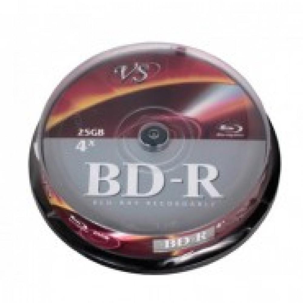 Диск BD-R VS 25 GB 6x (10 штук в упаковке)