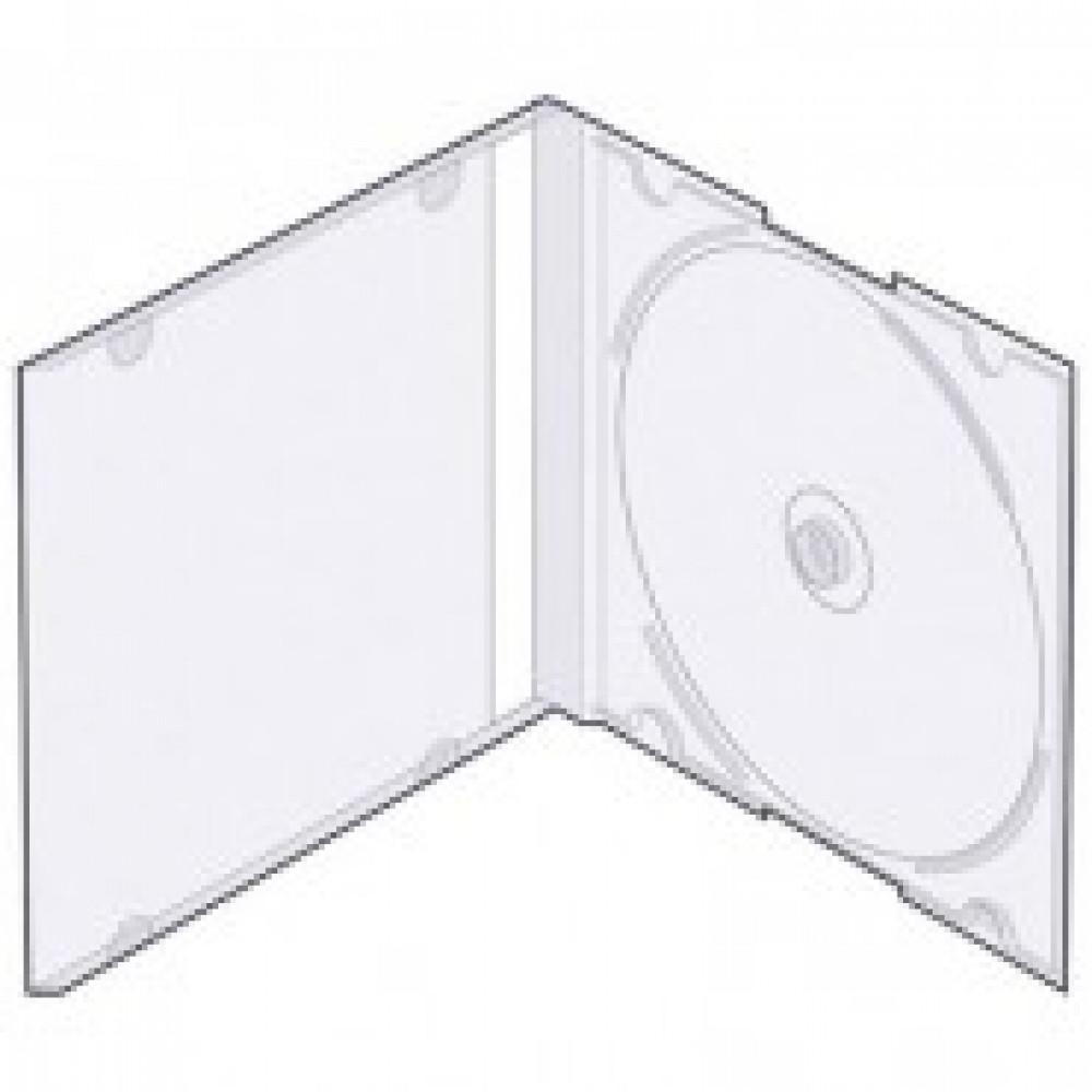 Бокс для CD/DVD дисков VS CD-box Slim/5 прозрачный