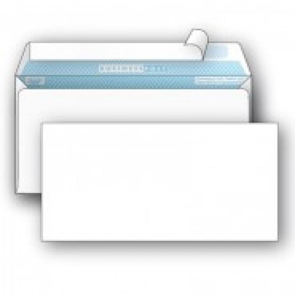 Конверт BusinessPost E65 90 г/кв.м белый стрип с внутренней запечаткой (1000 штук в упаковке)