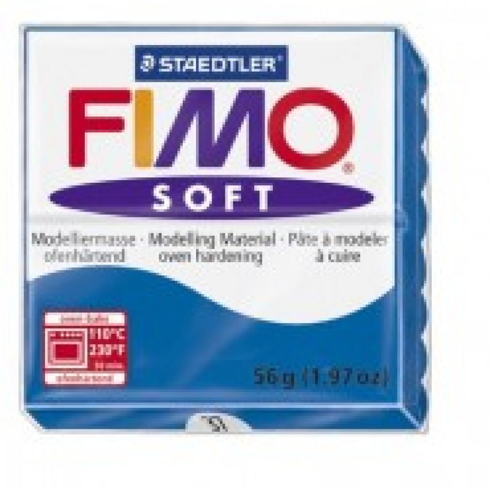 Глина полимерная синяя,57гр,запек в печке,FIMO,soft,8020-37