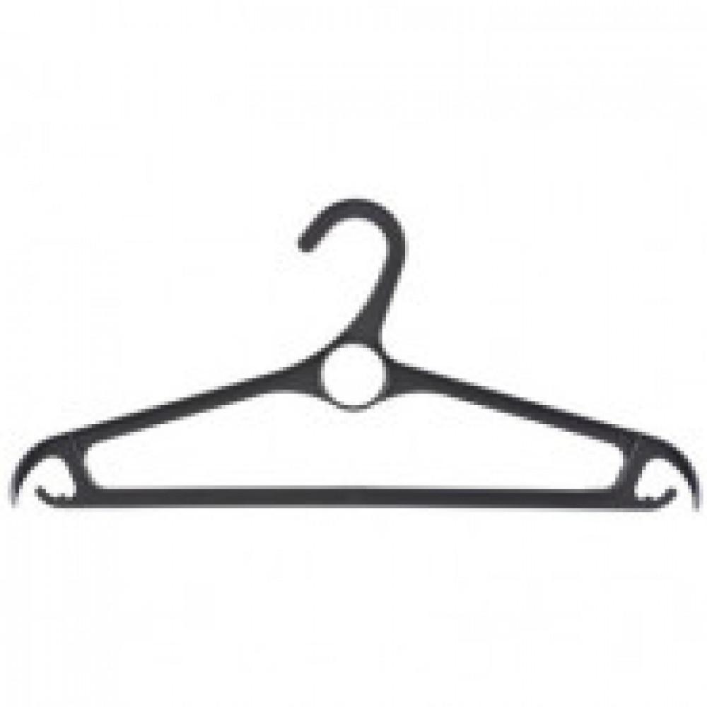 Вешалка-плечики Elfe пластиковая для верхней одежды черная (размер 48-50)