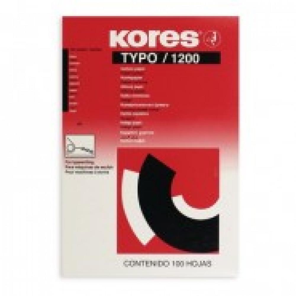 Бумага копировальная черная KORES 1200 пачка 100л. ?7528492