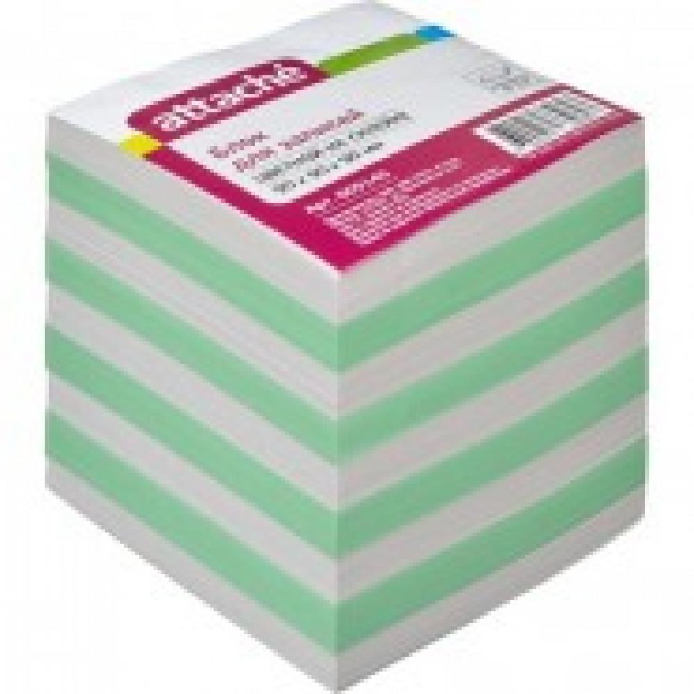 Блок для записей Attache Economy на склейке 9х9х9 цветной 65 г