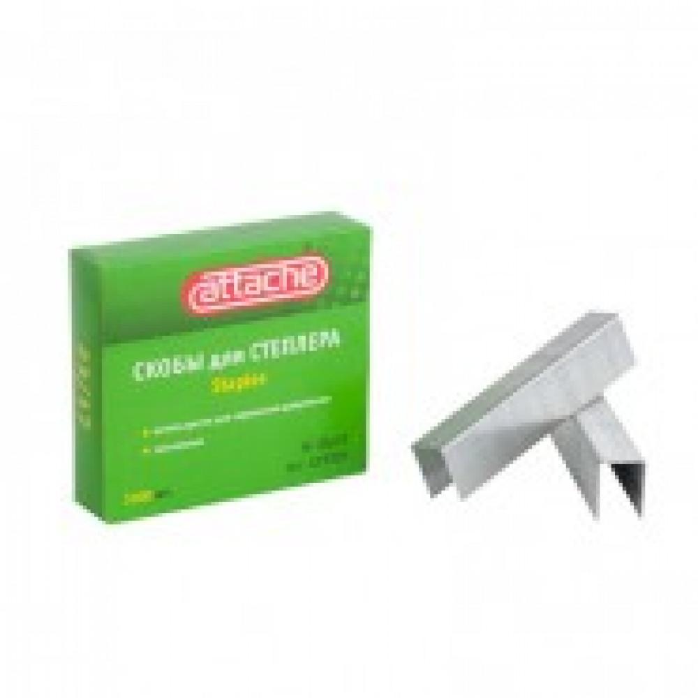 Скобы для степлера N23/17 ATTACHE, оцинкованные (130-160 лист) 1000шт в уп.