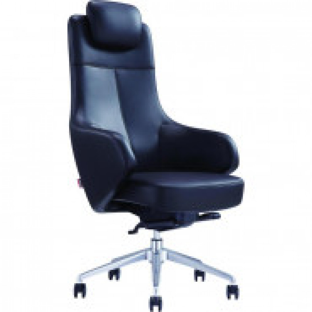 Кресло BN_Fc_ EСhair-569 SL кожа черная, хром