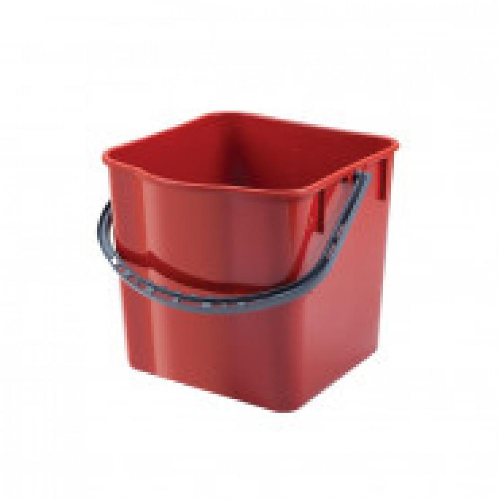Ведро для тележки прямоугольное пластик красный 25л SK797-R