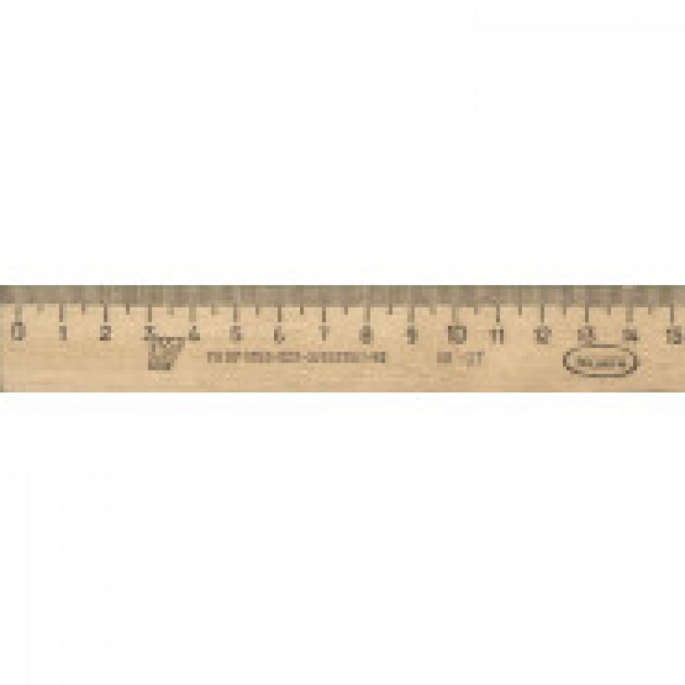 Линейка деревянная 15см,ЛП-150,С03