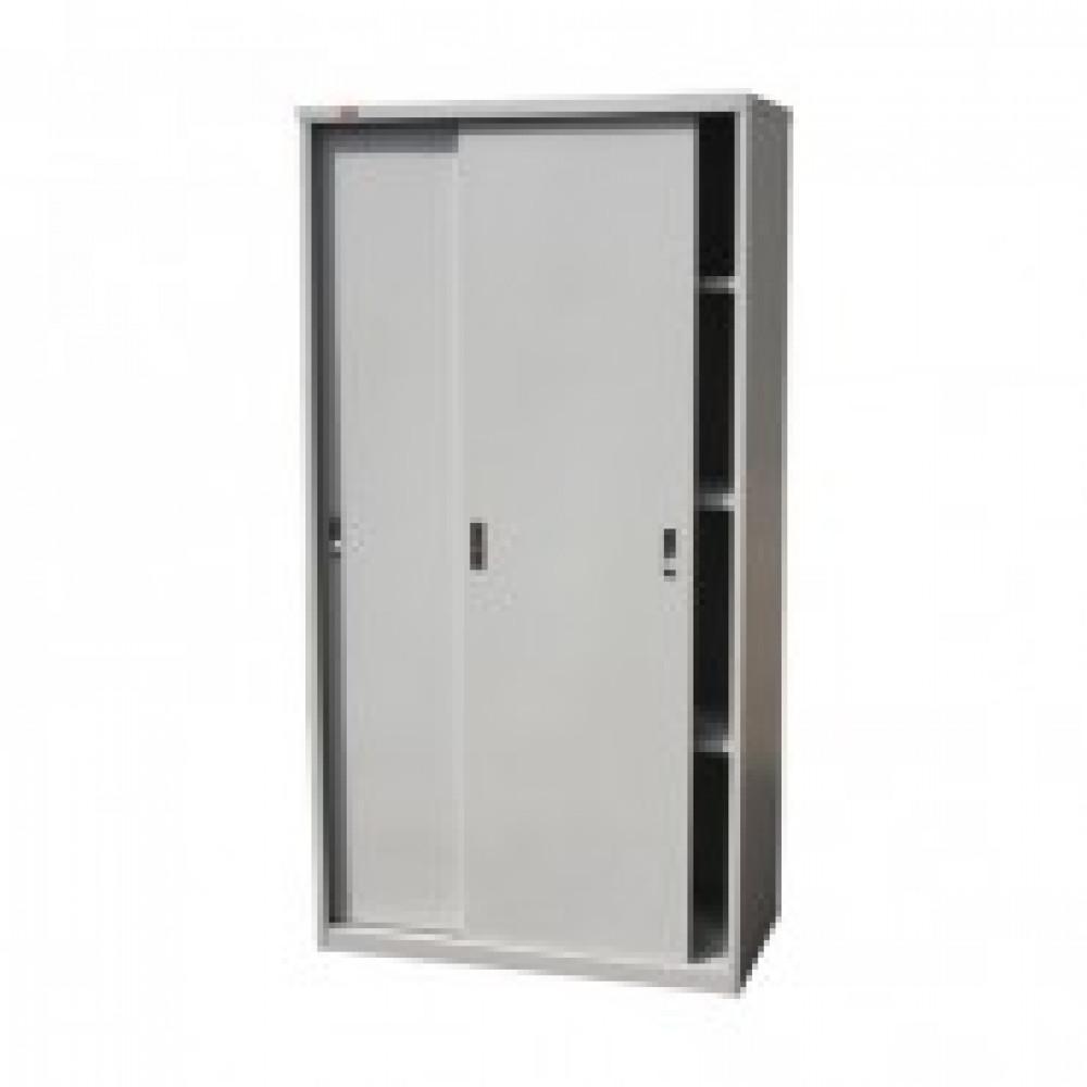 Шкаф-купе металлический P_ШАМ-11.К 3полки,серый, 960х450х1860