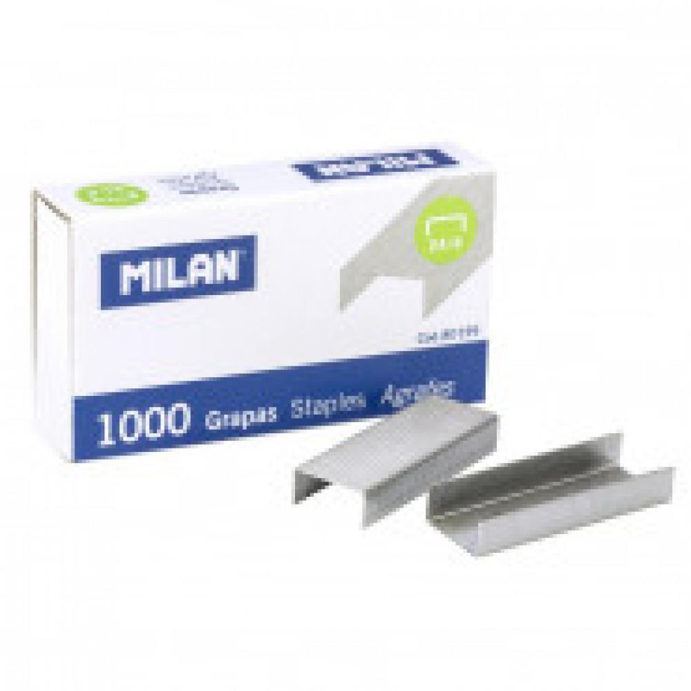 Скобы для степлера N24/6 Milan никелированные, 1000 шт в упаковке (80199)