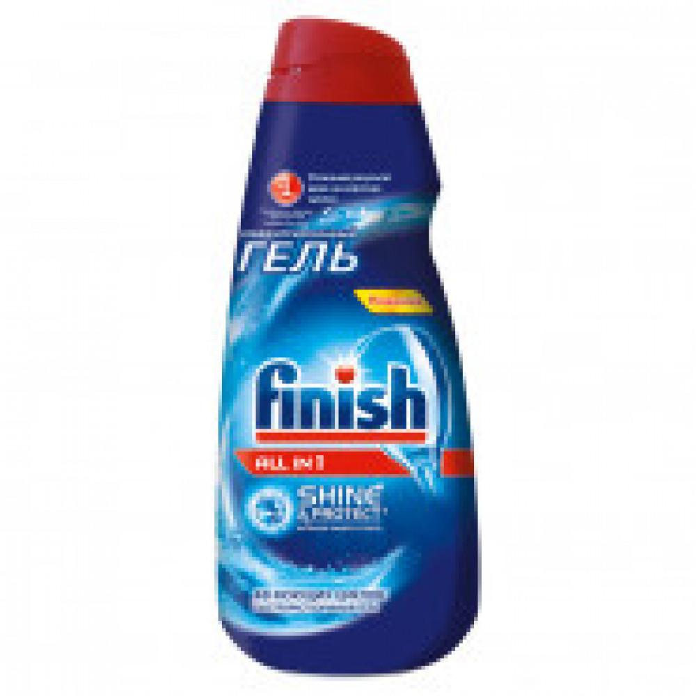 Гель для ПММ FINISH Shine&Protect All in1, 1л