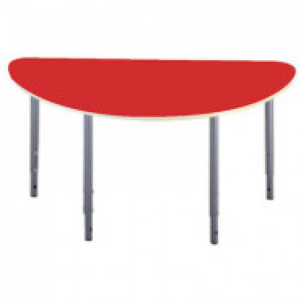 Детская мебель Д_Стол полукругл. 005.327 Рост 0-3 красный