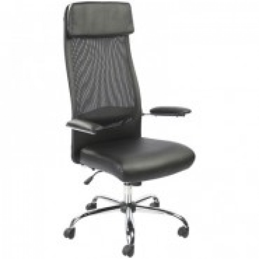 Кресло BN_Dt_Руководителя EChair-507 TPU net к/з черный, сетка,