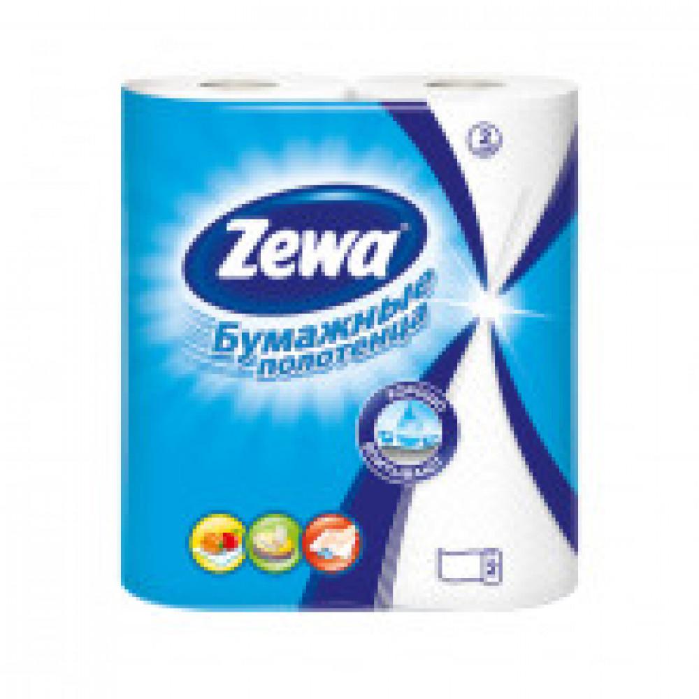 Полотенца бумажные ZEWA 2-сл.,белые, 2 рул./уп.144001