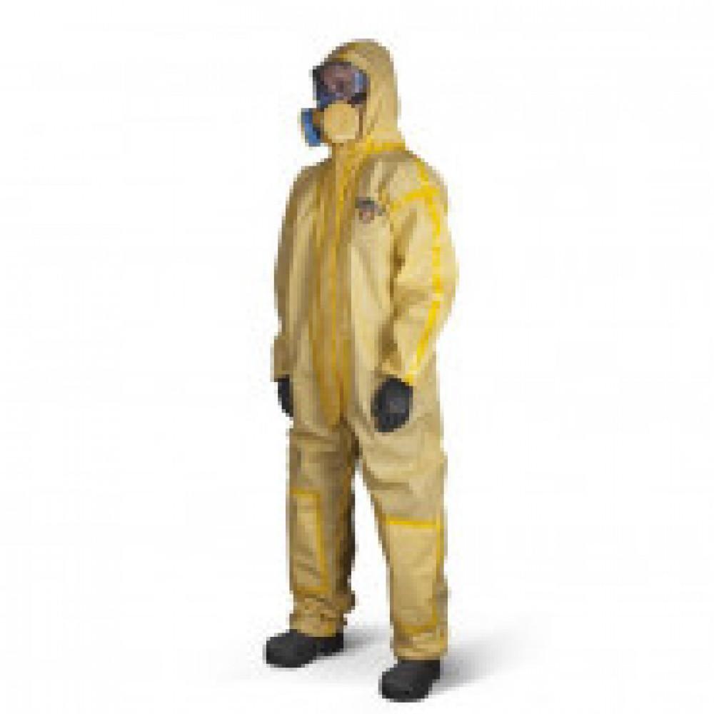 Одноразовая одежда Комбинезон с капюш ChemMAX 1 желтый р-р XL (CT1S428)