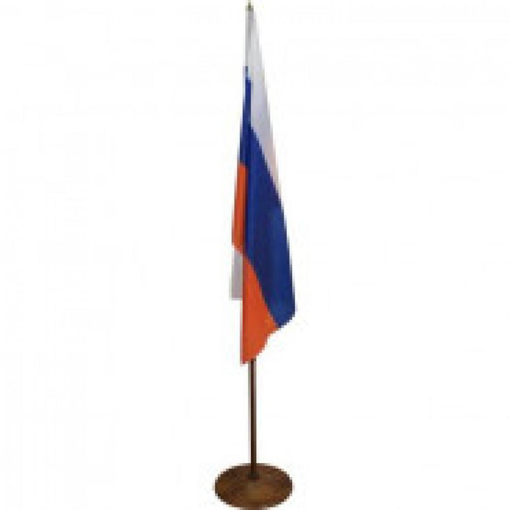 Флаг TI_напольный России, текстура дерева, вишня