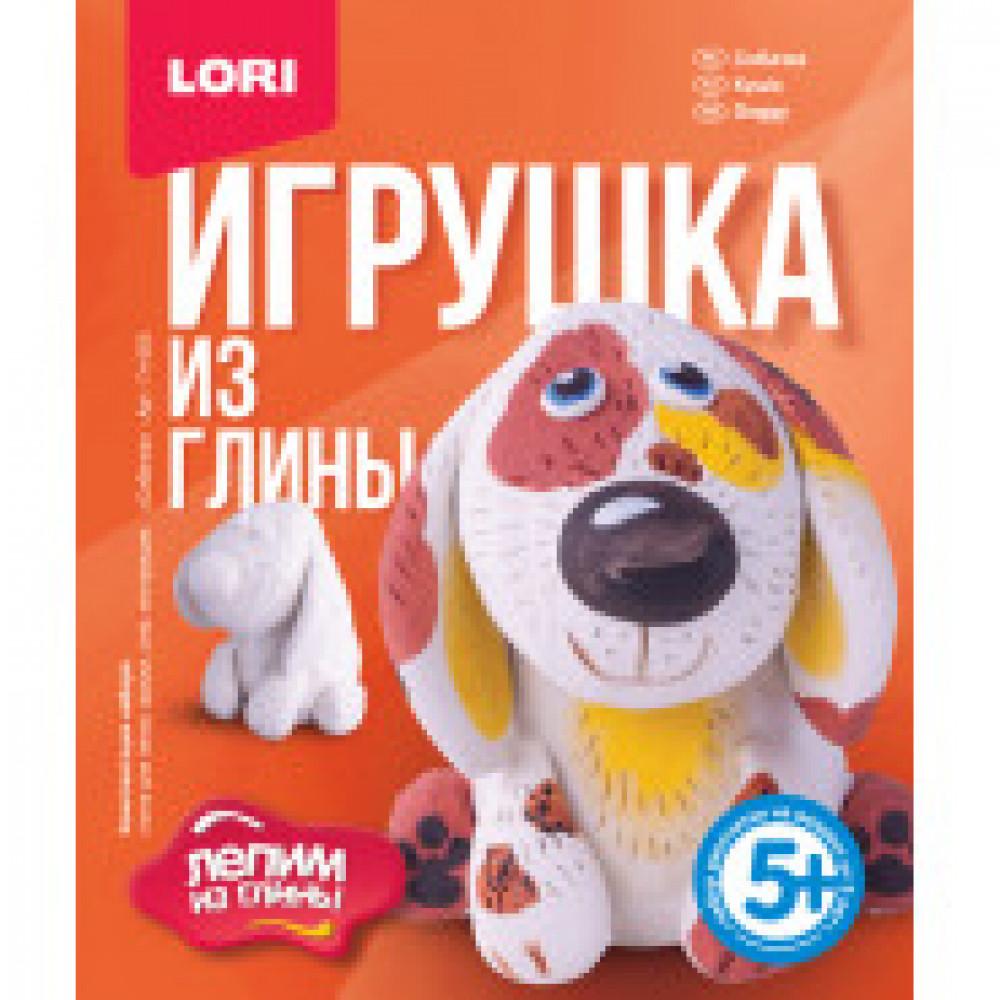 Набор для творчества Lori игрушка из глины Собачка