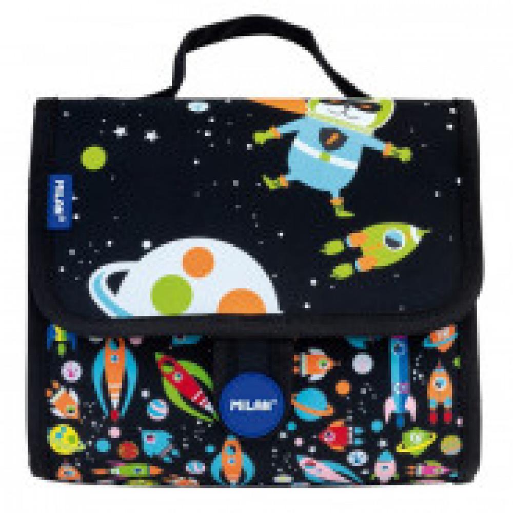 Портфель Super Heroes Space детский с 2-мя пеналами с наполнением,08831SSB