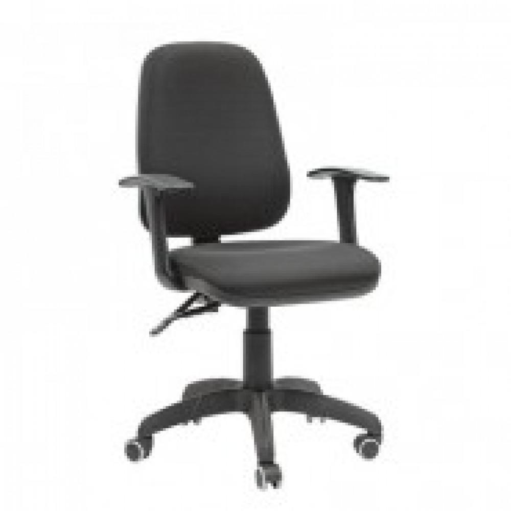 Кресло офисное Chairman 661 черное (ткань, пластик)