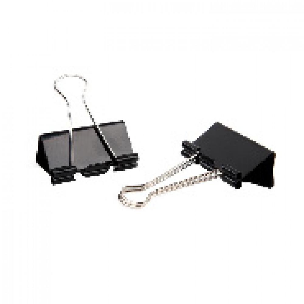 Зажимы для бумаг Attache Economy 41 мм черные (12 штук в упаковке)
