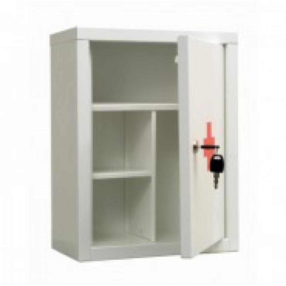 Аптечка металлическая ПРАКТИК AMD-39  белая, ключ. зам, 300х160х390