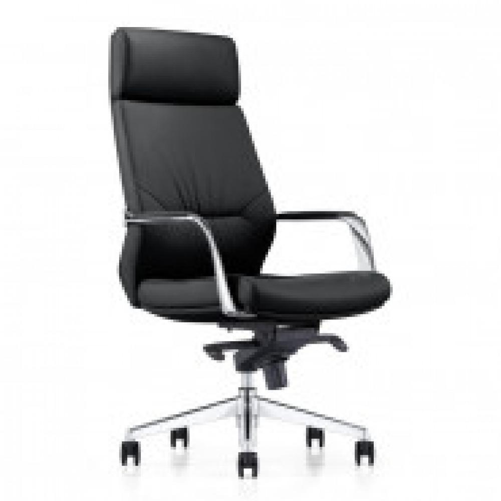 Кресло BN_Fc_EСhair-570 МL кожа черная, хром