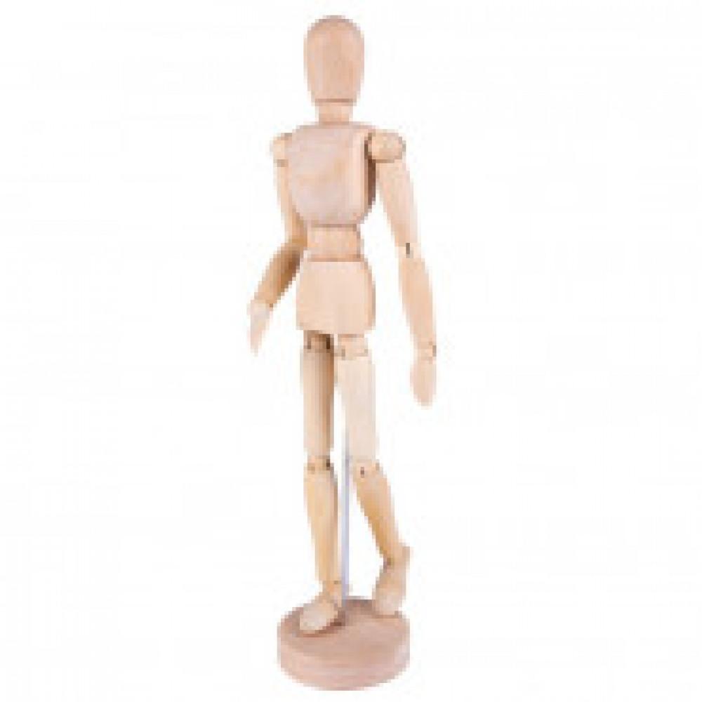 Манекен человека деревянный  30 см, мужской DK16203
