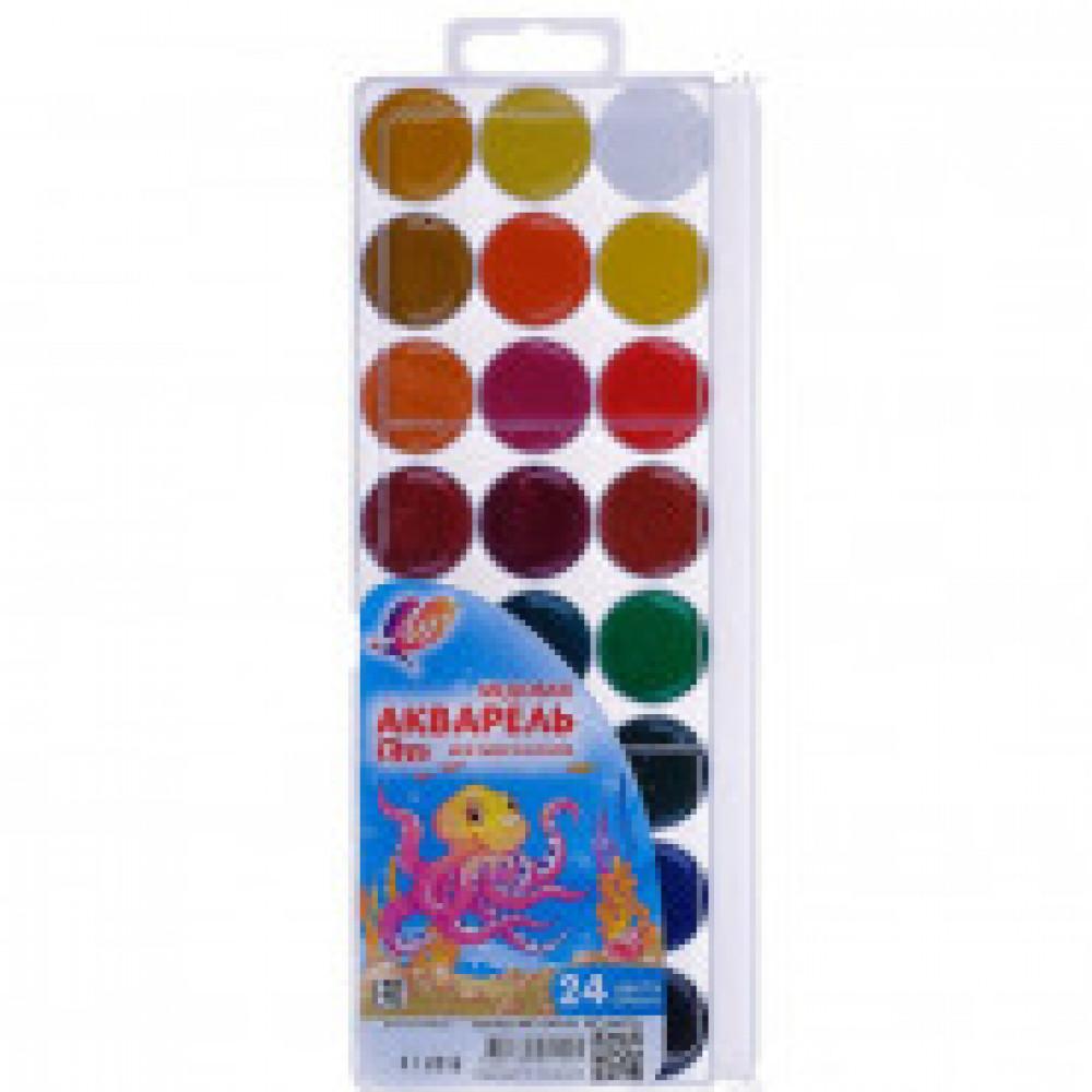 Акварельные краски Луч Zoo медовые 24 цвета