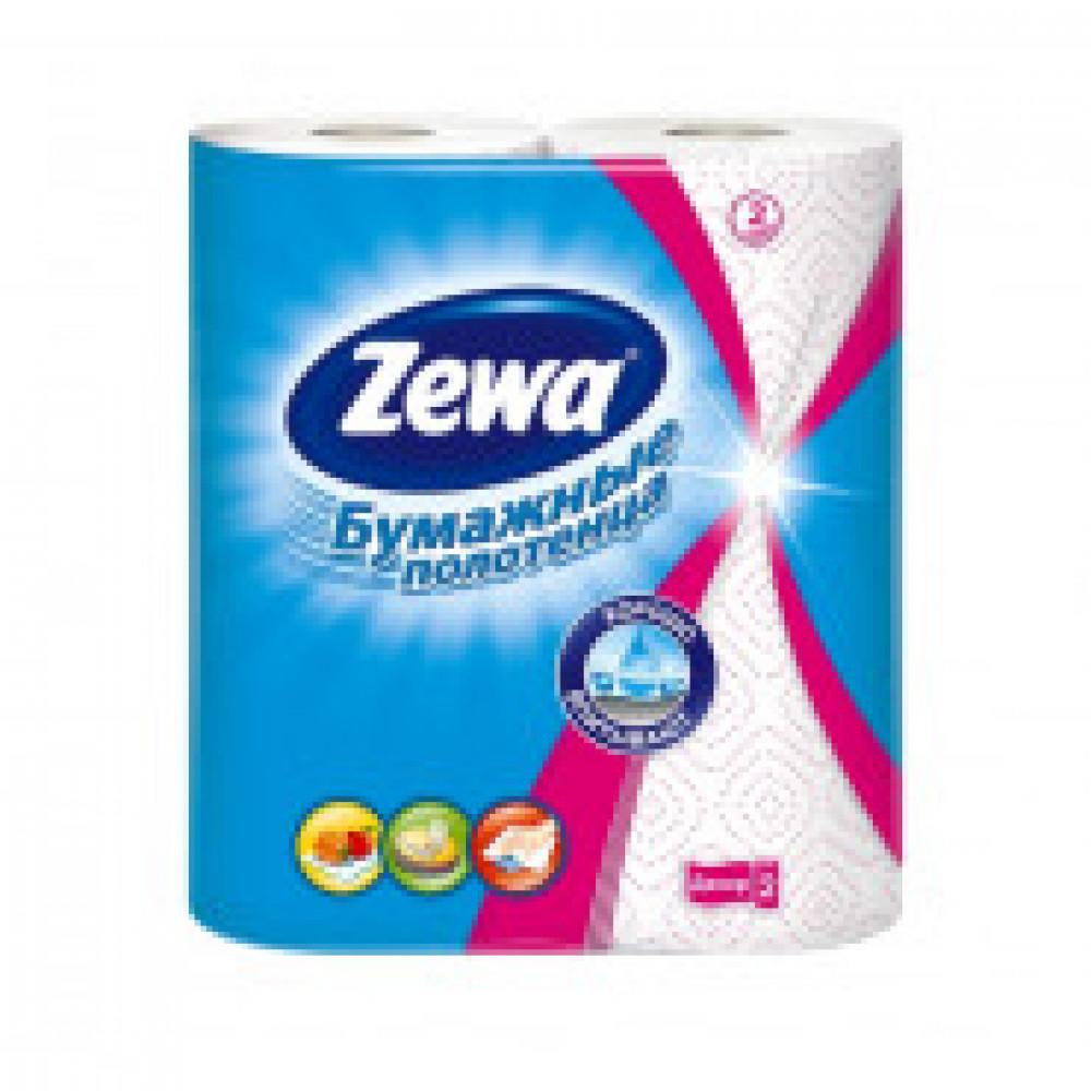 Полотенца бумажные ZEWA 2-сл.,белые с рис., 2 рул./уп.144087
