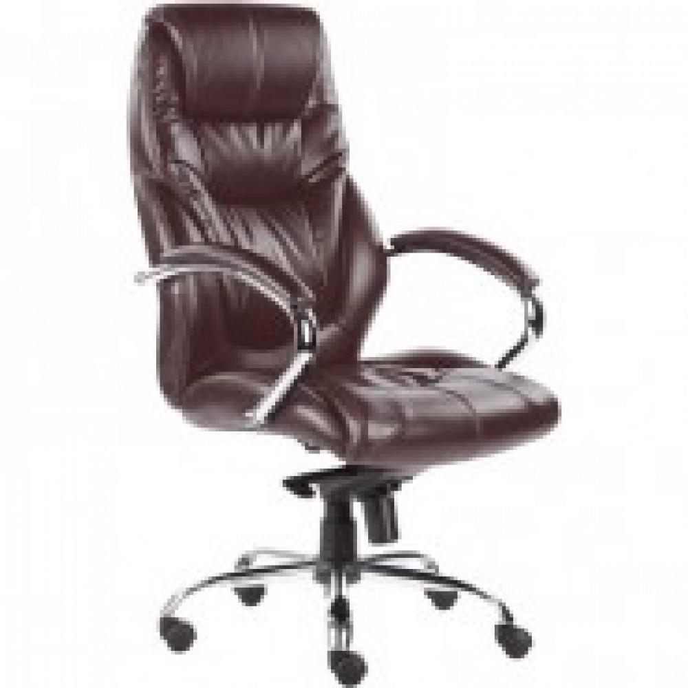 Кресло BN_Dp_Руководителя EChair-535 MPU к/з коричн., хром