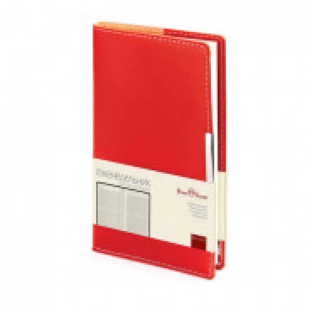 Еженедельник недатированный Bruno Visconti Metropol искусственная кожа A6 80 листов красный (102x177 мм) (артикул производителя 3-492/02)