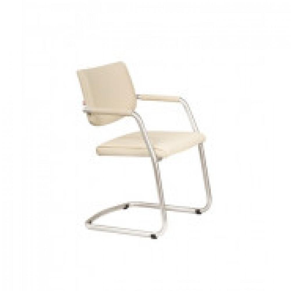 Кресло UN_Delta silver V18 к/з светло-бежевый