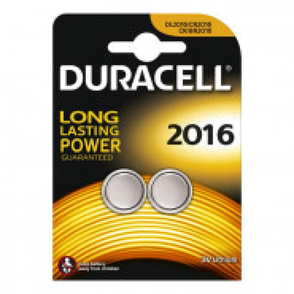 Батарейка DURCAELL CR2016-2BL 3V Lithium для электронных устройств бл/2