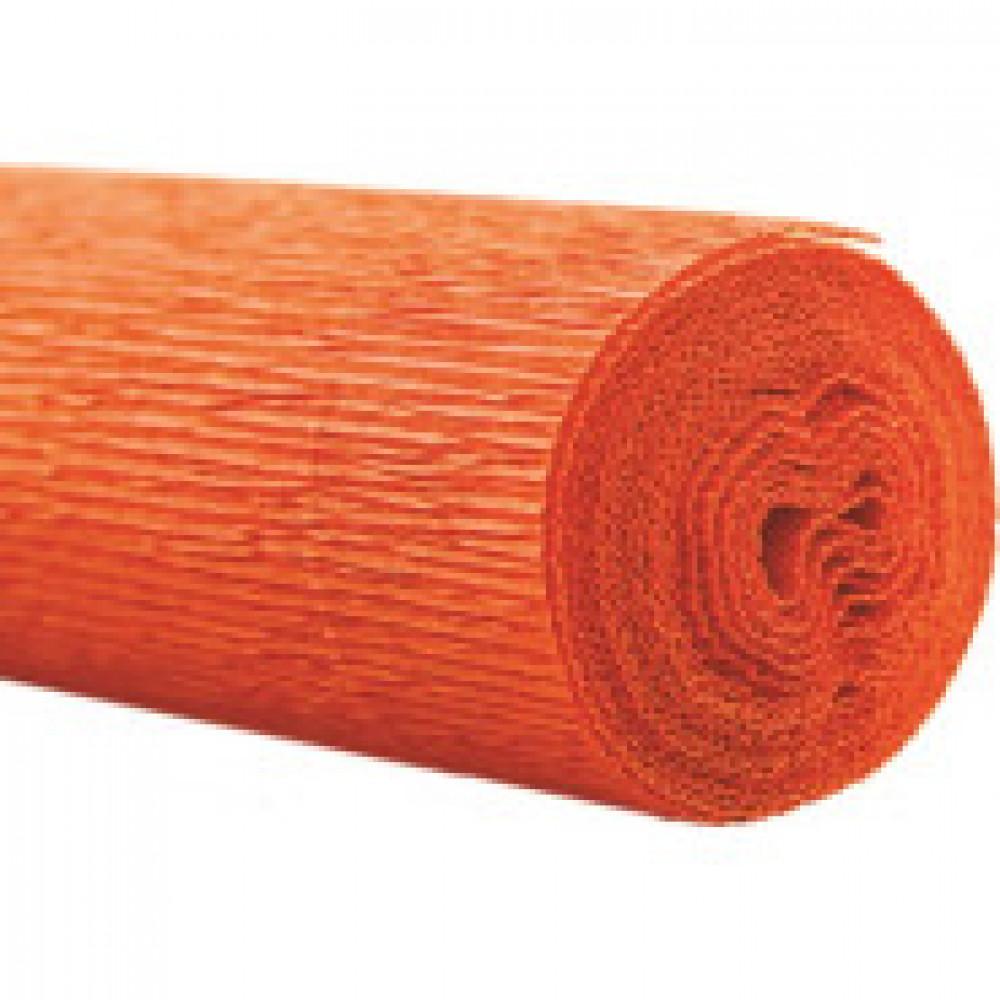 Бумага для творчества крепир.флорист. 50x250см,128г/м2,оранжевая,170503
