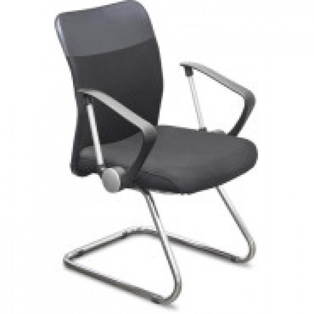 Кресло UP_Директ Лайт НП, ткань черная, хром