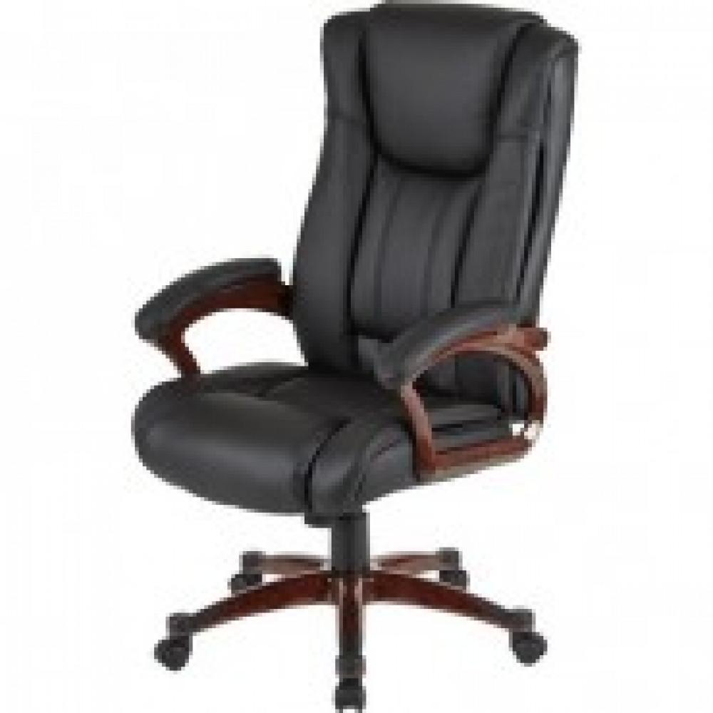 Кресло BN_Dt_Руковод. EChair-632 TR рец.кожа черная, пластик