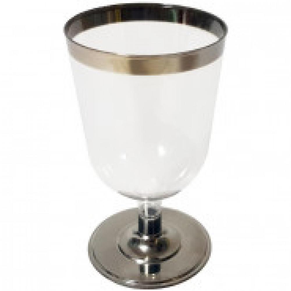 Бокал одноразовый для вина 200мл., прозр. ВИНТАЖ, ПС, 6шт/уп