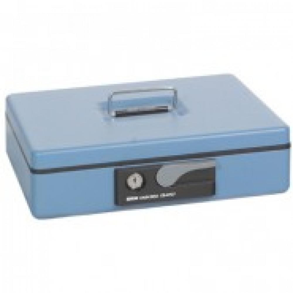 Метал.Мебель SHUH RU CB-9707N кэшбокс голубой, ключ.з 300х230х80