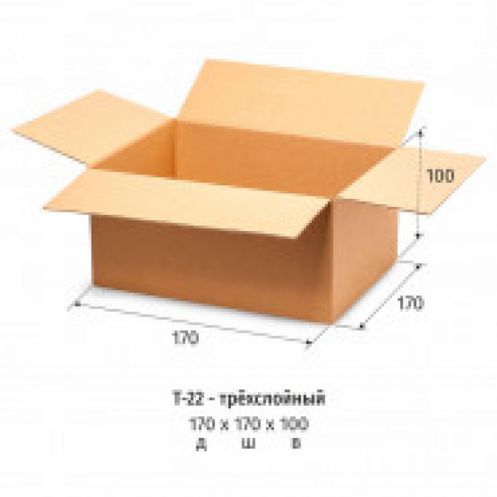 Гофрокороб 170х170х100 мм Т-22 бурый  (10 штук в упаковке)