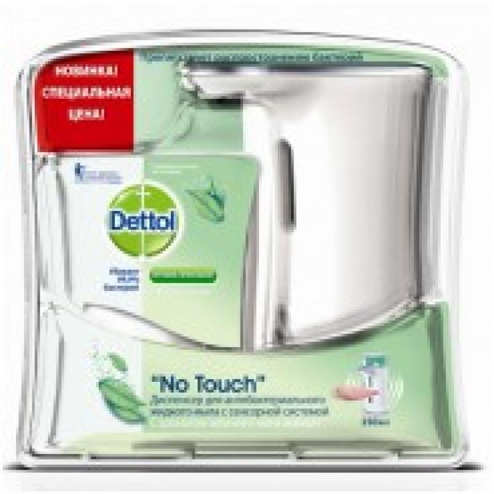 Дозатор для жидкого мыла Dettol сенсорный + картридж  Зеленый чай иимбирь