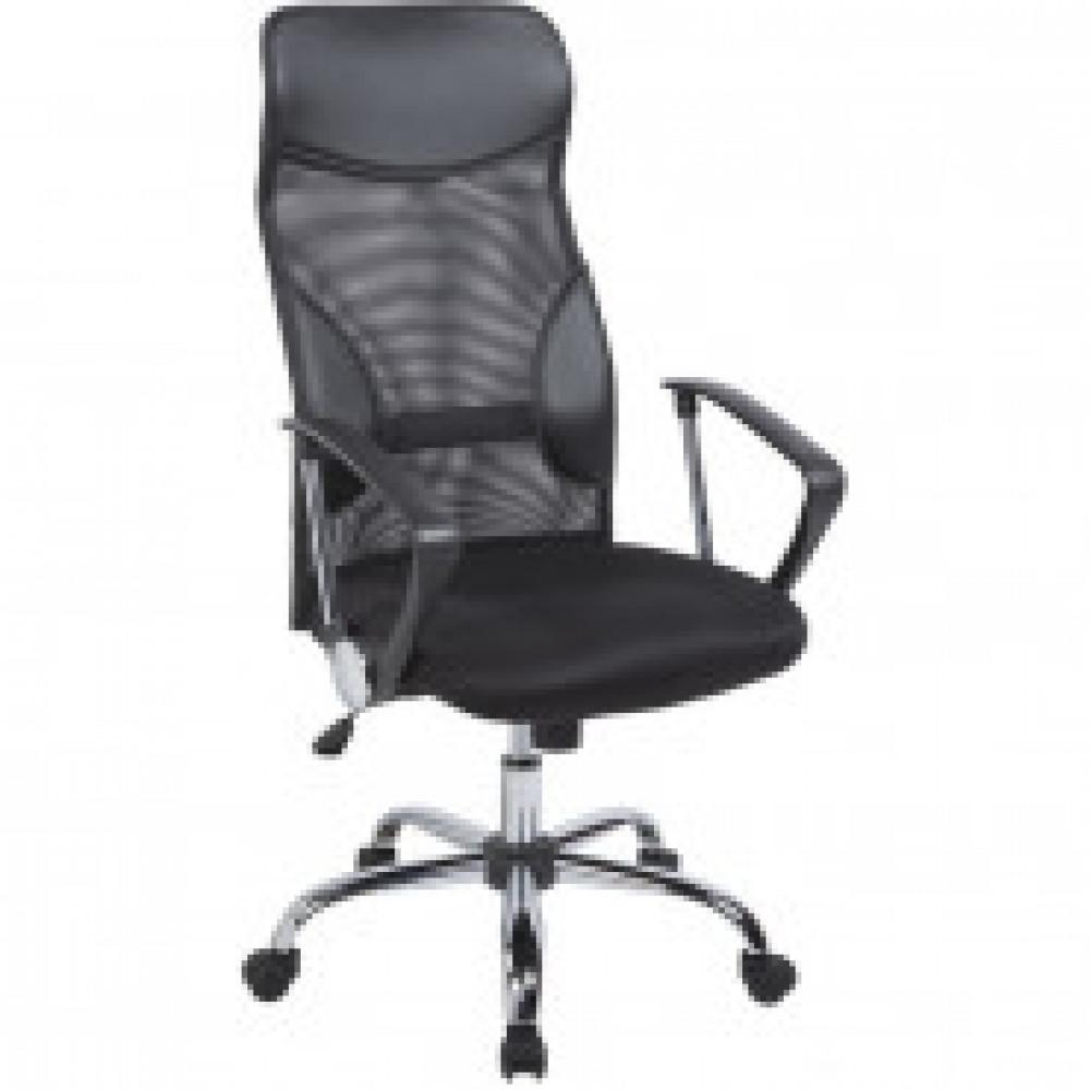 Кресло BN_Dt_Руководителя EChair-506 TPU net к/з черный, сетка,