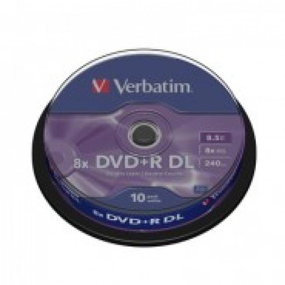 Диск DVD+R DL Verbatim 8.5 Gb 8x (10 штук в упаковке)