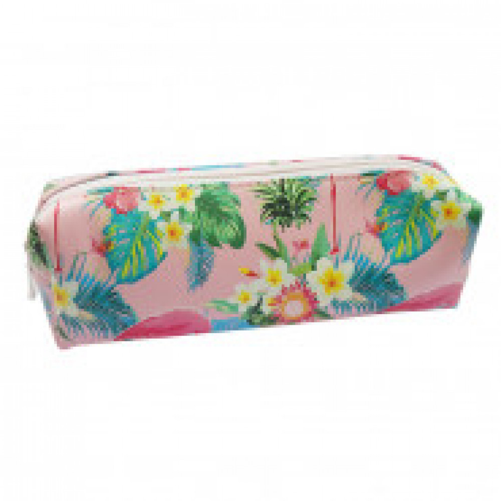 Пенал -косметичка Flamingo 185х50 мм искусств кожа на молнии ISP048 розов