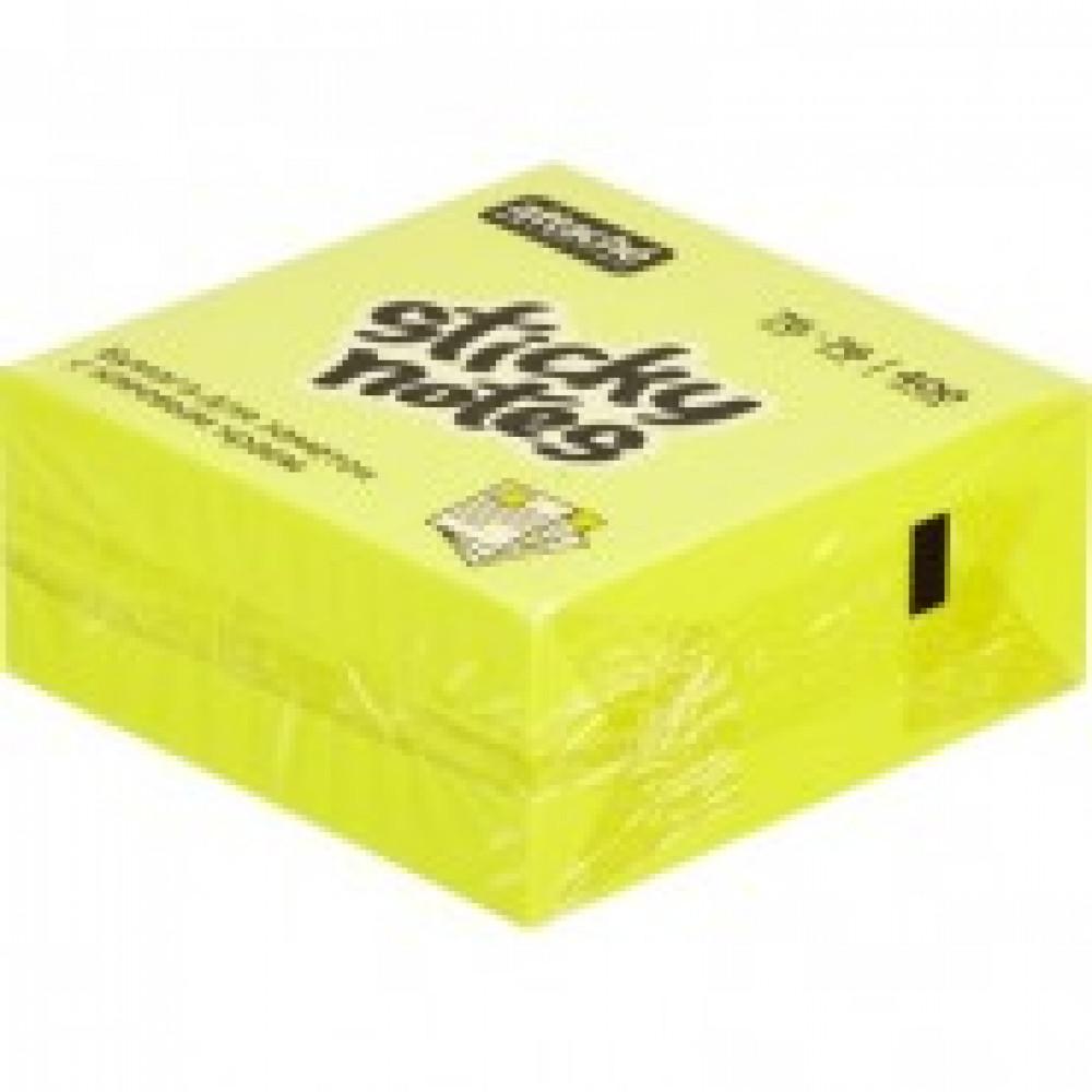 Блок-кубик Attache Selection куб 76х76, желтый неон 400 л
