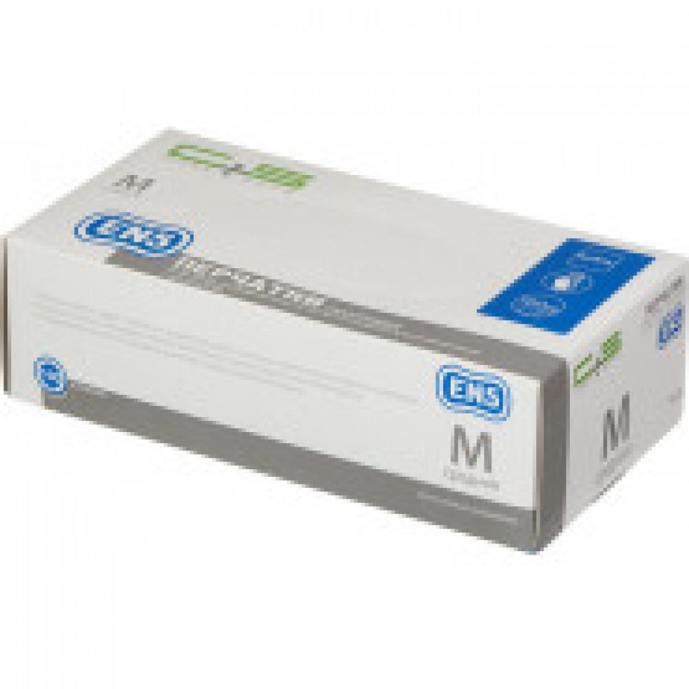 Мед.смотров. перчатки нитрил., нестер., н/о,Clean+Safe (M) белый 100пар