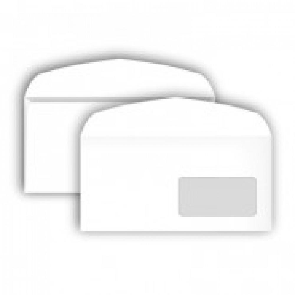 Конверт Bong С65 80 г/кв.м белый декстрин с внутренней запечаткой с правым окном (1000 штук в упаковке)