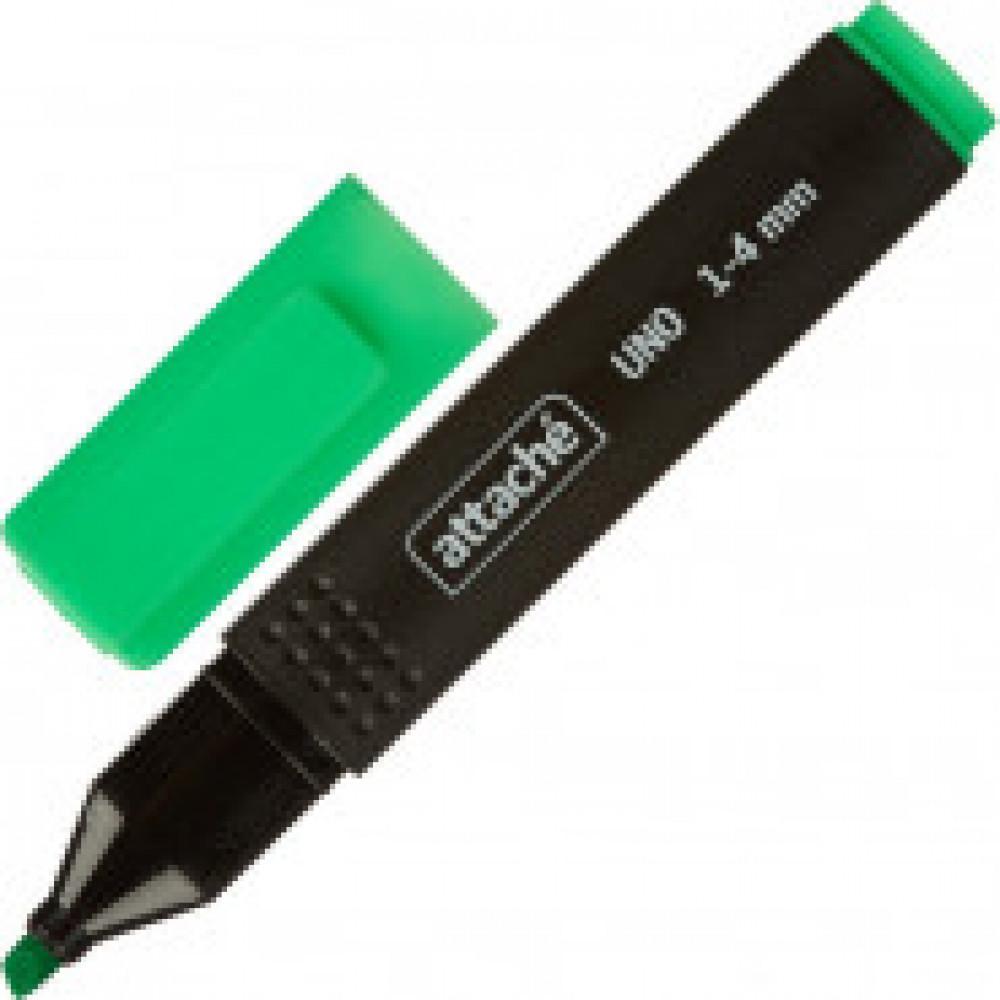 Маркер выделитель текста Attache Economy Uno 1-4мм зеленый