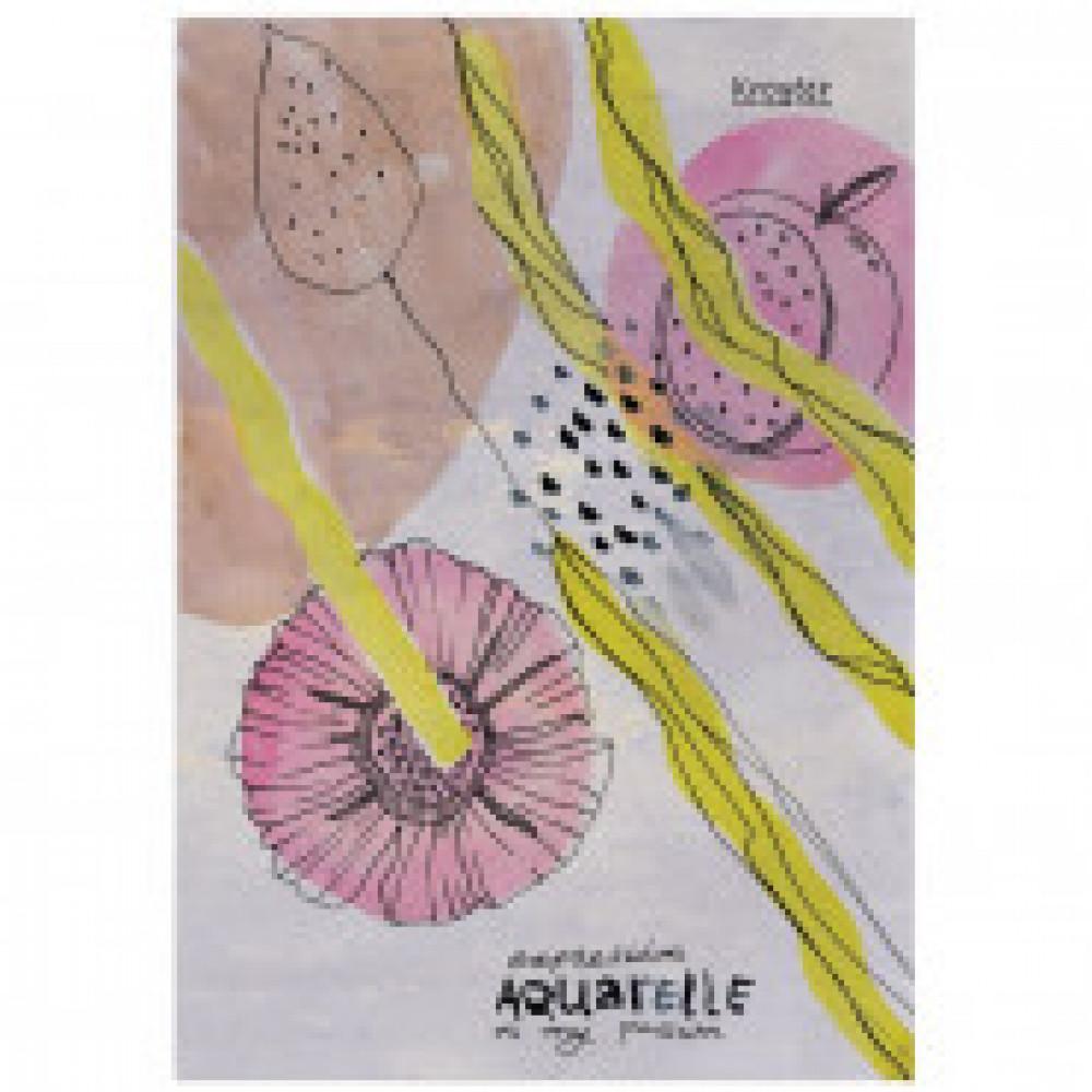 Папка для рисования акварелью А4,10л,180гр/м2 №1 Kroyter Экспрессия 08238